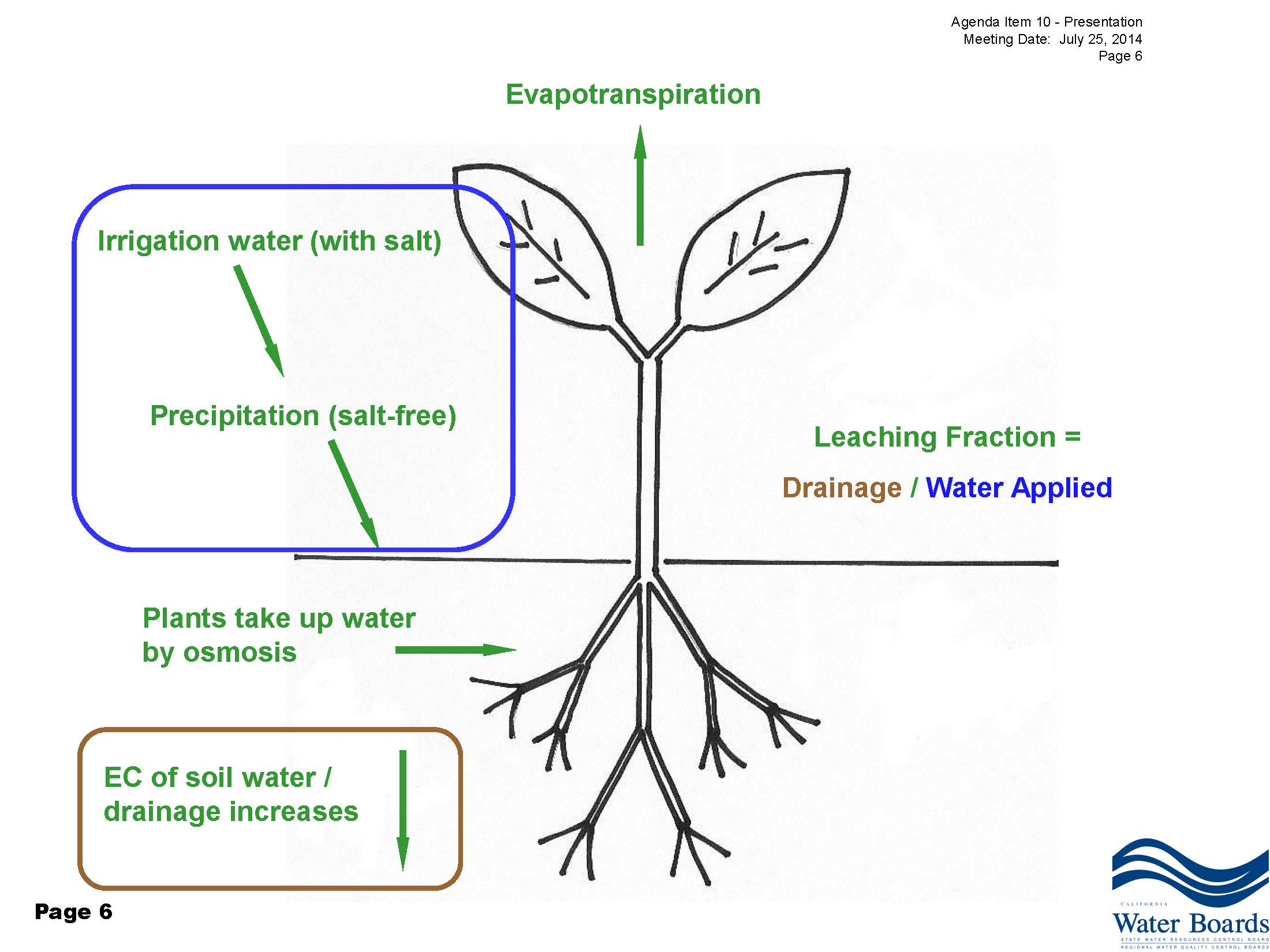 Salinity management in the delta during times of drought mavens the evapotranspiration needs of a plant are satisfied by applying water to the soil and that water is either precipitation which is salt free pooptronica