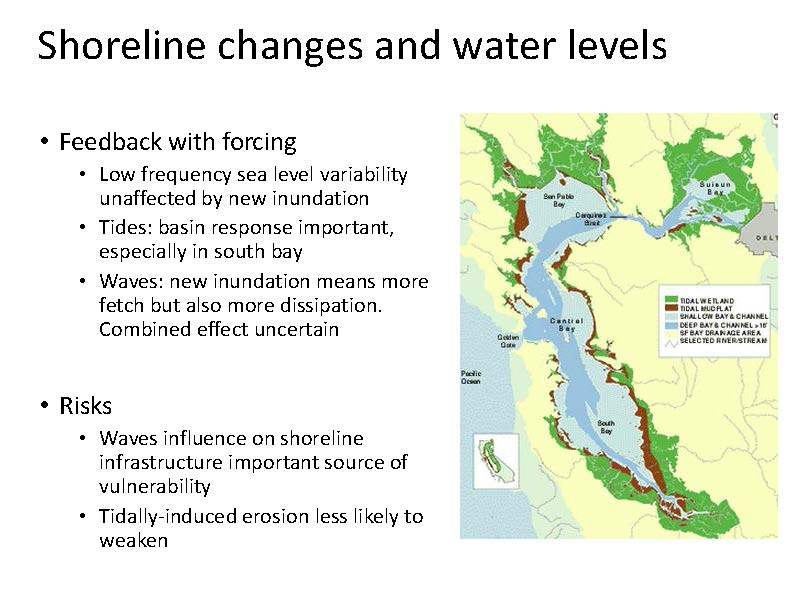 Projecting inundation in the San Francisco Bay Sea level and