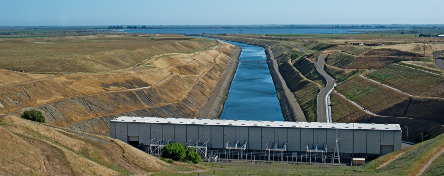The Banks Pumping Plant in the South Delta (Photo by DWR)