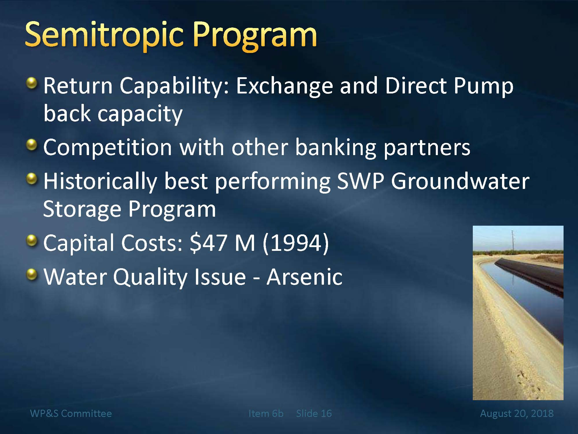 Metropolitans Groundwater Banking Programs Mavens Notebook