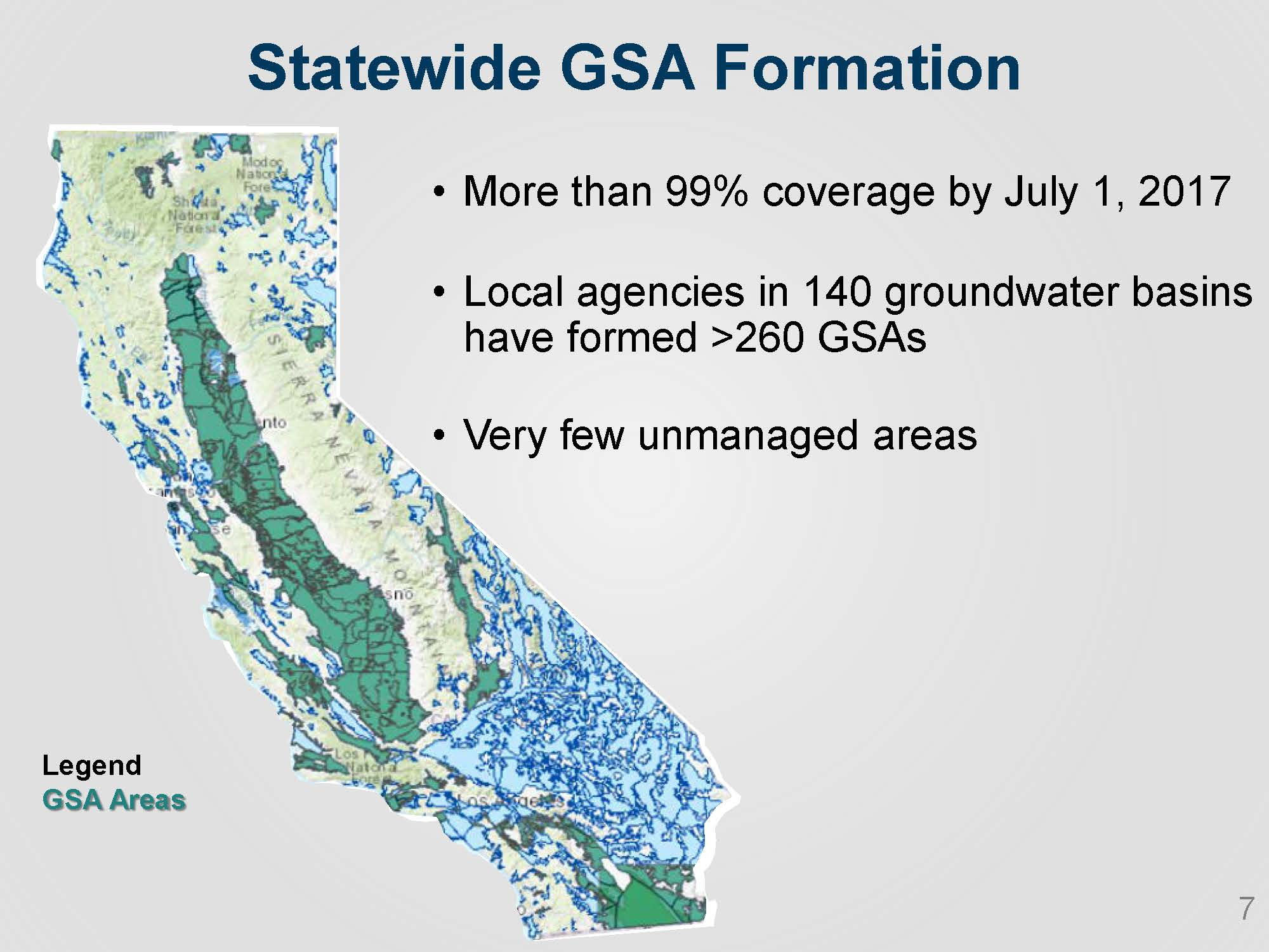 CA WATER COMMISSION: Update on implementation of the