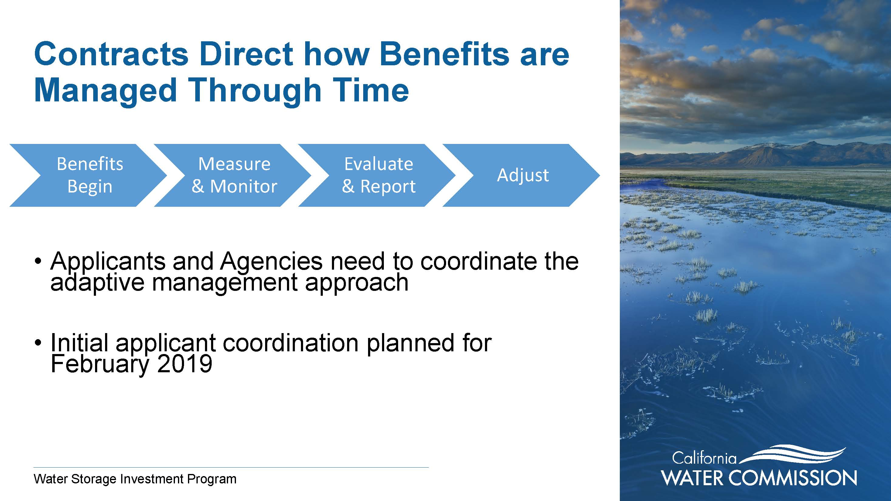 CA WATER COMMISSION: Overview of Water Use Efficiency